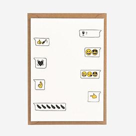 Emoji Love Letterpress Postkarte>     </noscript> </div>          <div class=