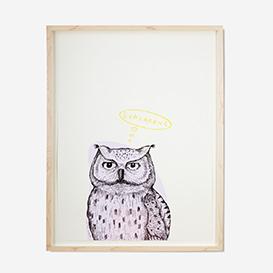 Owl - Purple Screenprint Poster>     </noscript> </div>          <div class=