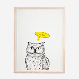 Owl - Neon Screenprint Poster>     </noscript> </div>          <div class=