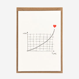 Exponantial Love Letterpress Postkarte>     </noscript> </div>          <div class=