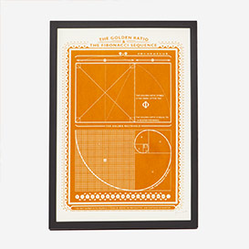 Golden Ratio & Fibonacci Screenprint Poster>     </noscript> </div>          <div class=