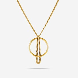 Fine Chain Necklace - silver 925 gold plated>     </noscript> </div>          <div class=