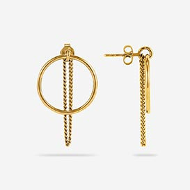Fine Chain Earrings - silver 925 gold-plated>     </noscript> </div>          <div class=