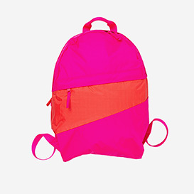 The New Foldable Backpack M Pretty Pink & Red Alert>     </noscript> </div>          <div class=