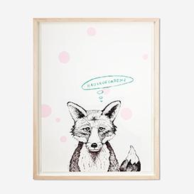Fox - Hausaufgaben? Pink Screenprint Poster>     </noscript> </div>          <div class=