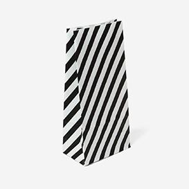 Geschenktüte Stripe Small - Black