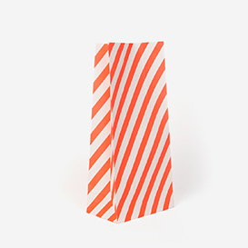 Geschenktüte Stripe Small - Orange