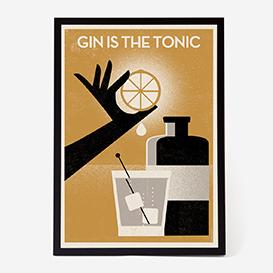 Gin Is The Tonic Art Print - Kunstdruck>     </noscript> </div>          <div class=