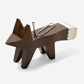 Gold Tip Fox Paper Clip Holder - Walnut>     </noscript> </div>          <div class=