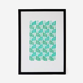 Green Swans Silkscreen Print>     </noscript> </div>          <div class=