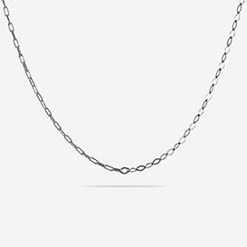 Half Diamond Halskette - Silber 925 weiss rhodiniert>     </noscript> </div>          <div class=