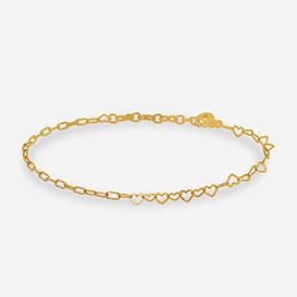Half Heart Armband - Silber 925 vergoldet>     </noscript> </div>          <div class=
