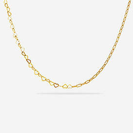 Half Heart Halskette - Silber 925 vergoldet>     </noscript> </div>          <div class=