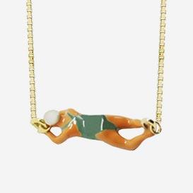Halskette Nadadora Deep Green - Emaille / Gold 9k>     </noscript> </div>          <div class=