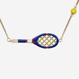 Necklace Tennis Electric Blue - Enamel / Gold 9k>     </noscript> </div>          <div class=