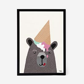 I Love Ice Cream Artprint Poster>     </noscript> </div>          <div class=