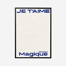 Je t'aime Magique Blue Print - A3>     </noscript> </div>          <div class=