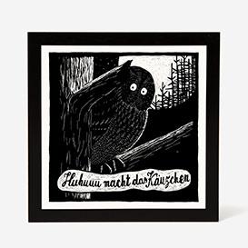 Screech Owl Screenprint>     </noscript> </div>          <div class=
