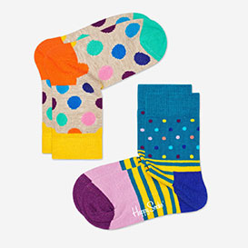 Kids Big Dot Beige Stripes Purple Socks 2-Pack>     </noscript> </div>          <div class=