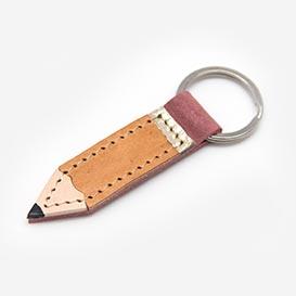 Bleistift Braun - Schlüsselanhänger aus Leder>     </noscript> </div>          <div class=
