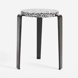 LOU Stool in recycled plastic MACCHIATO>     </noscript> </div>          <div class=
