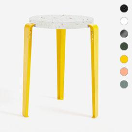 LOU Stool – Hocker mit Sitzfläche aus recycletem Plastik VENEZIA>     </noscript> </div>          <div class=