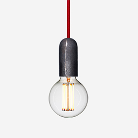 Lampenfassung Iron mit Textilkabel Rot>     </noscript> </div>          <div class=