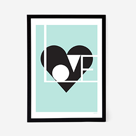 Love Artprint - Mint>     </noscript> </div>          <div class=