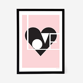 Love Artprint - Rose>     </noscript> </div>          <div class=