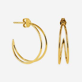 Moon Creole Earrings - silver 925 gold-plated>     </noscript> </div>          <div class=