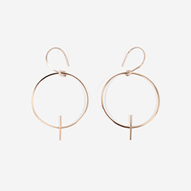 Earrings Cross bar Circle Wire Gold Filled>     </noscript> </div>          <div class=