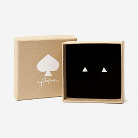 Ear Studs Triangle Silver 925>     </noscript> </div>          <div class=