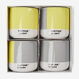 Pantone™ Color of the Year 2021 Ultimate Gray 17-5104 & Illuminating 13-0647 Cortado-Thermobecher 4er Set>     </noscript> </div>          <div class=