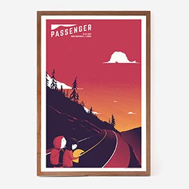 Passenger Screenprint Gigposter>     </noscript> </div>          <div class=