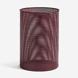Perforated Tin Bin L Burgundy>     </noscript> </div>          <div class=
