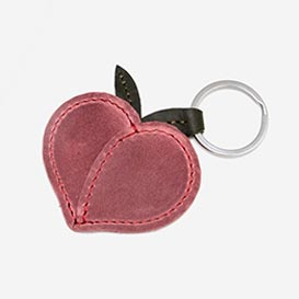 Peach - Leather Key Ring>     </noscript> </div>          <div class=