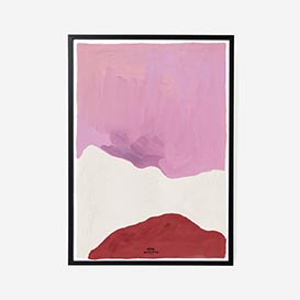Pink White and Red Art Print - A3>     </noscript> </div>          <div class=