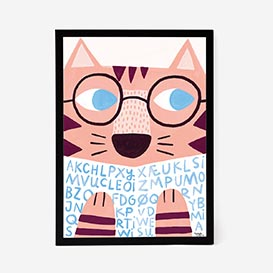 Reading Tiger Artprint Poster>     </noscript> </div>          <div class=