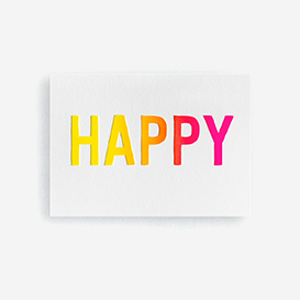 HAPPY Letterpress Card / Mini Print>     </noscript> </div>          <div class=