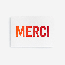 MERCI Letterpress Card / Mini Print>     </noscript> </div>          <div class=