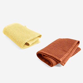 Spültücher Waffle Terracotta & Yellow 2er Set