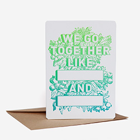Together Like Blank and Blank Greeting Card>     </noscript> </div>          <div class=