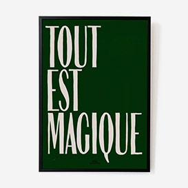 Tout est Magique Green Print - A2>     </noscript> </div>          <div class=