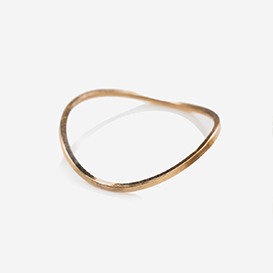 Wavy Thin Band Ring vergoldet>     </noscript> </div>          <div class=