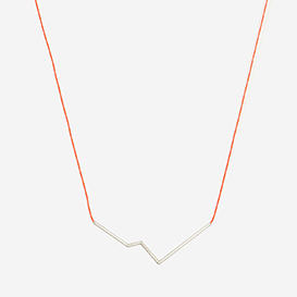 Necklace Angle No. 3 Neon Red - Silver>     </noscript> </div>          <div class=