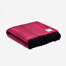 Pure Wool Blanket Herringbone - Fuchsia>     </noscript> </div>          <div class=