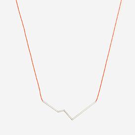 Necklace Angle No. 3 Neon Red - Silver>     </noscript> </div>          <div class=