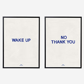 Wake Up No Thank You Art Print Double - A3>     </noscript> </div>          <div class=