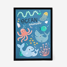 Ocean Animals Artprint Poster>     </noscript> </div>          <div class=