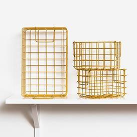 The Baskets Set of 3 Mustard>     </noscript> </div>          <div class=